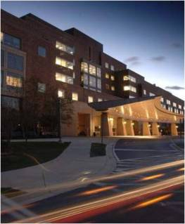 photo of NIH Clinical Center entrance