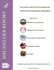 Image of the cover of the 2012 OER Report - http://grants.nih.gov/grants/oer_annual_reports.htm
