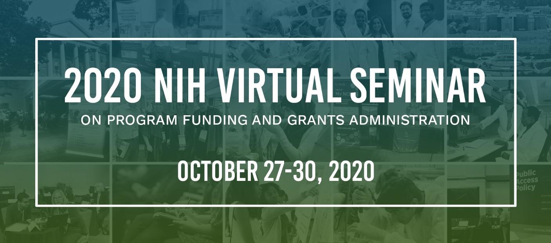 banner for NIH virtual seminar 2020