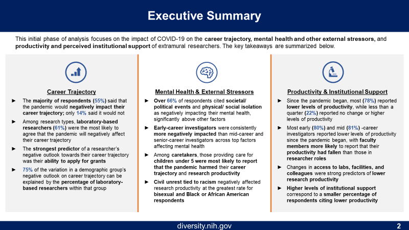 Figure 2 is a graphic showing the executive summary as described in the text